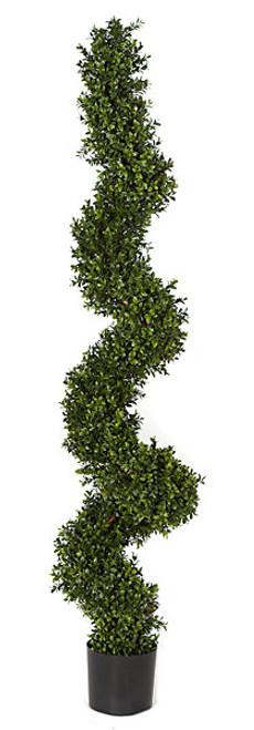 5 Foot UV/Fade Resistant Boxwood Spiral Topiary