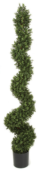 70 Inch UV Rated Boxwood Spiral Topiary