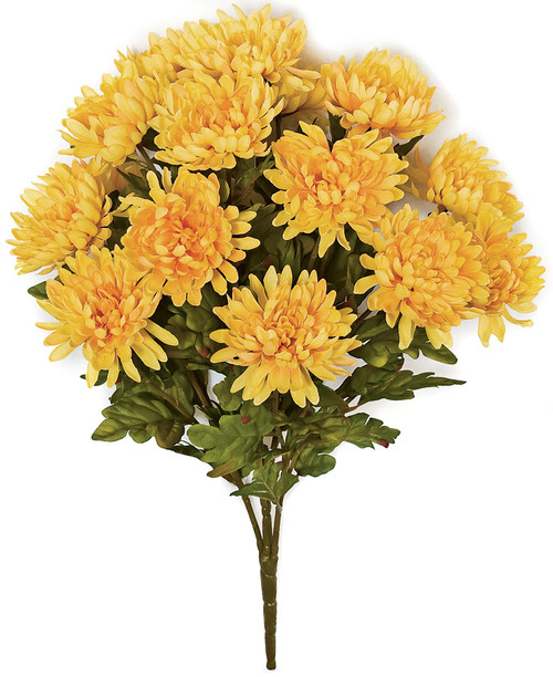 23 Inch IFR Chrysanthemum Bush - Yellow or Orange