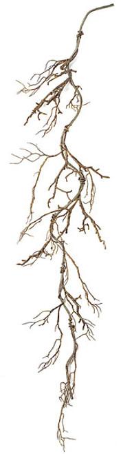 6' Plastic Twig Vine GarlandBrown