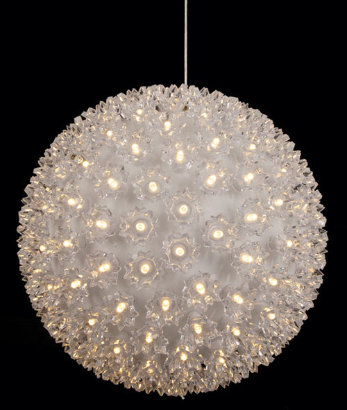 10 Inch Hanging White Lighted Sphere