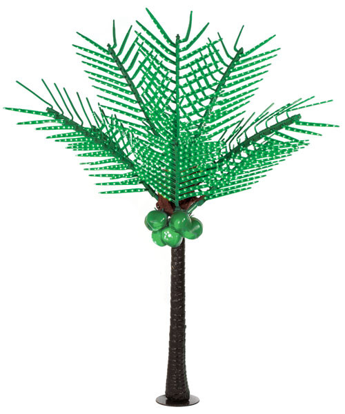 L-1450007' Green LED Palm Treewith Coconuts