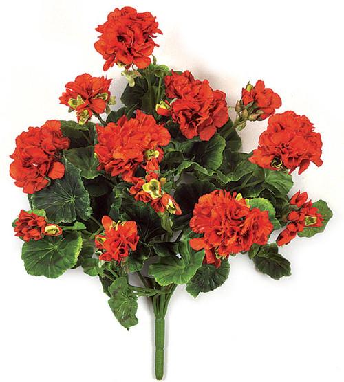 "17"" Red Geranium BushRegular or Fire Retardant Material"