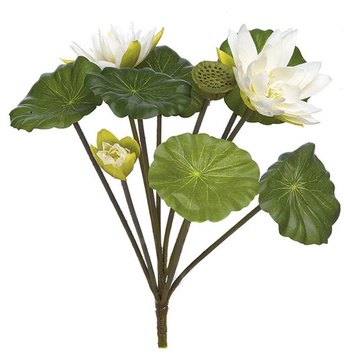 25 Inch Lotus Bush - White