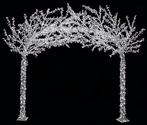 L-140100Crystal Arch TreeWhite Lights