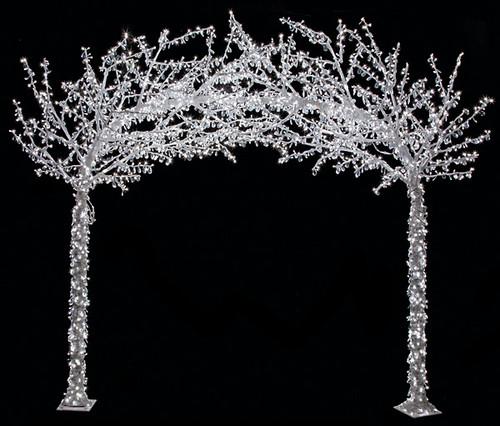 L-140320Acrylic Arch TreeWhite Lights