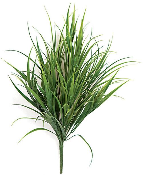 18 Inch Plastic Artificial Tutone Green Grass Bush