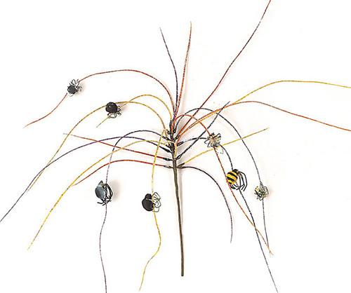 A-2361Halloween Grass w/ SpidersGlitterOrange/Black
