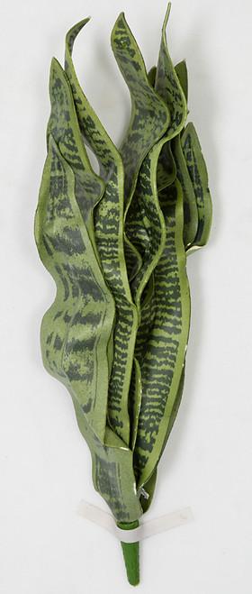 27.5 Inch Greyish Green Foam Sansevieria Plant