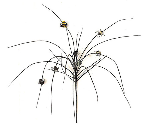 18 Inch Halloween Grass w/ Spiders- Black