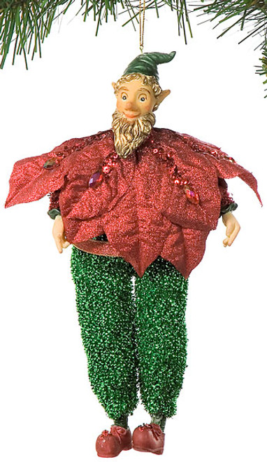 9.5 Inch Elf Santa Ornament