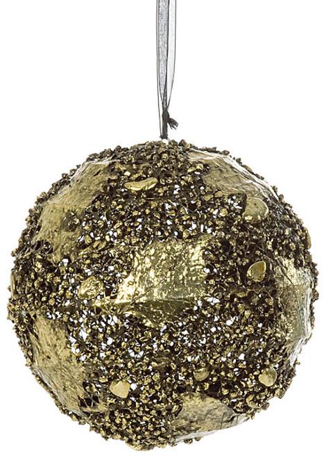 """J-812408"""" Wire Ball OrnamentAntique Gold"""