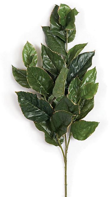 28 Inch Lemon Leaf Spray-Glittered Edges (SOLD BY THE DOZEN)