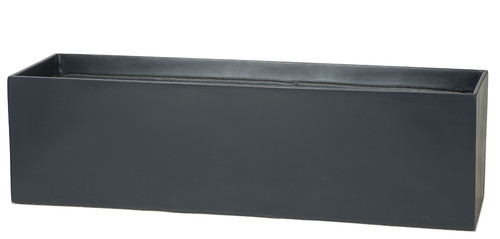 35.5 Inch  x 10 Inch  x 10 Inch Matte Grey Rectangle Window Box