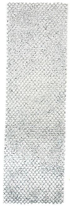 "A-122675 - Silver40"" x 12"" Glittered Honeycomb Ribbon"
