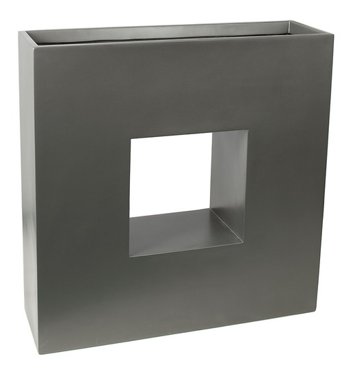 35 Inch x 10.5 Inch x 35 Inch Tall Gloss or Satin Rectangle Planter Boxes in Gloss Black, Satin Charcoal or Satin Bronze Colors.