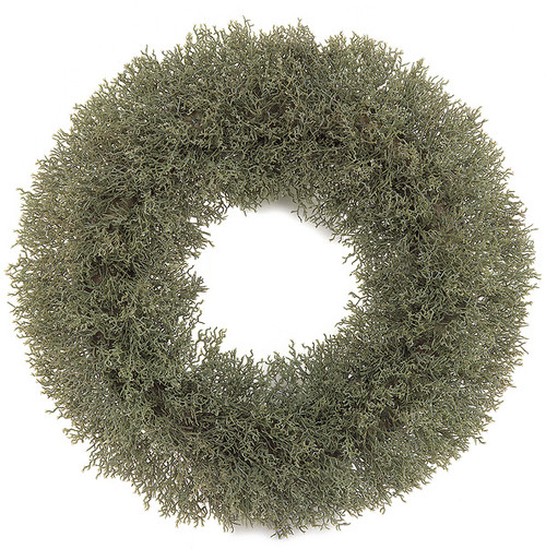 19 Inch Moss Wreath with Foam Base