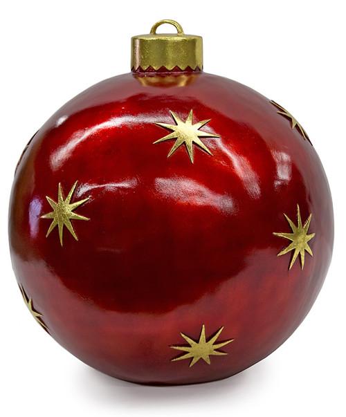 24 Inch Ball Ornament Decor - Red / Gold