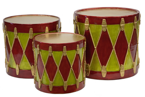 Small, Med, Large Decorative Christmas Drums