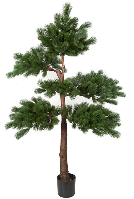 7 Foot Natural-Looking Wood Pine Tree with Synthetic Trunk.