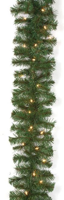"C-260119' Virginia Pine Garlandswith Clear Lights10"" Width"