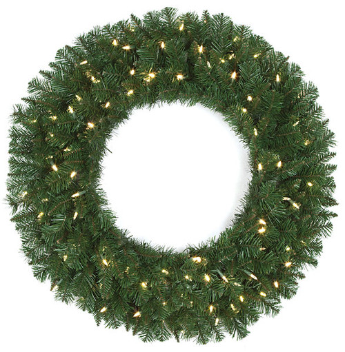 "C-13046436"" Monroe Pine Wreathwith LED Lights"