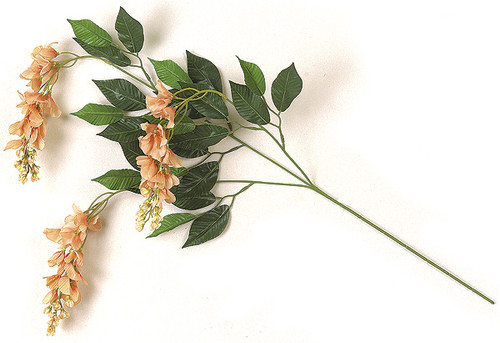 35 Inch Peach Wisteria Branch (SOLD by PIECE)