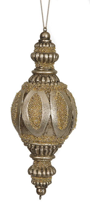 "10"" Beaded Finial Ornament