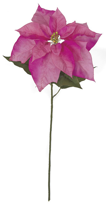 28 Inch Hot Pink Poinsettia Stem