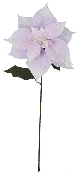 28 Inch Light Pink Poinsettia Stem