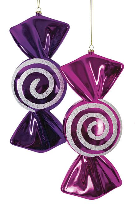"J-171412 - FuchsiaJ-171416 - Purple12"" Round Swirl Candy"