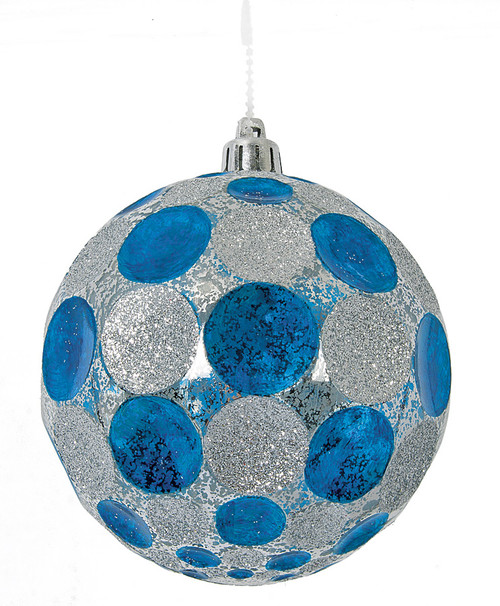 "J-1702504"" Shiny Polka Dot BallBlue/Silver"