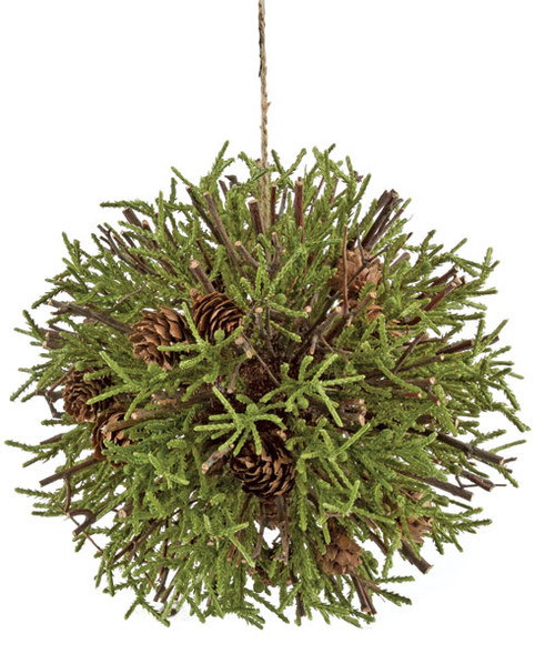 """A-1333058"""" Plastic  Pine Ball Natural Sticks and Pine Cones"""