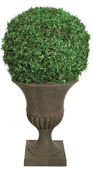 """P-6202025"""" Needle Point Ivy Ball - Green- Planter Is Not Included"""