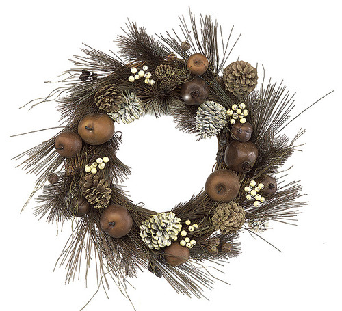21 Inch Mixed Winter Pine Wreath