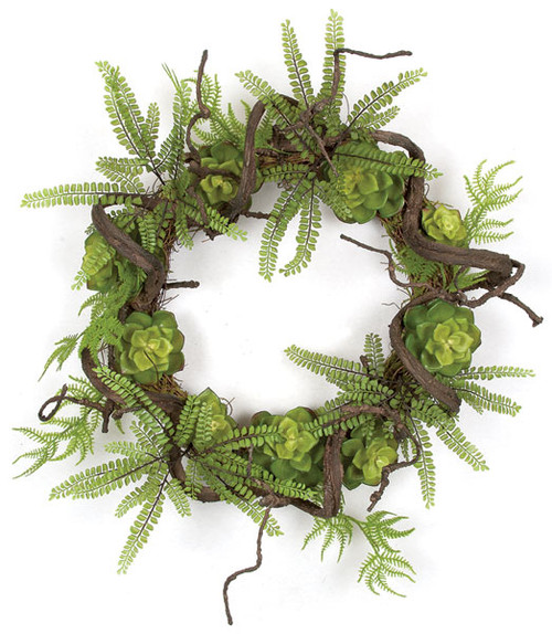 24 Inch Succulent Twig Wreath
