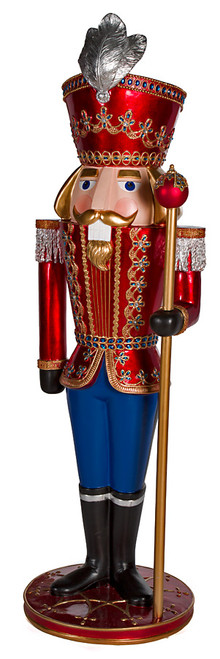 6 Foot Nutcracker on Stand with Right Hand or Left Hand Staff
