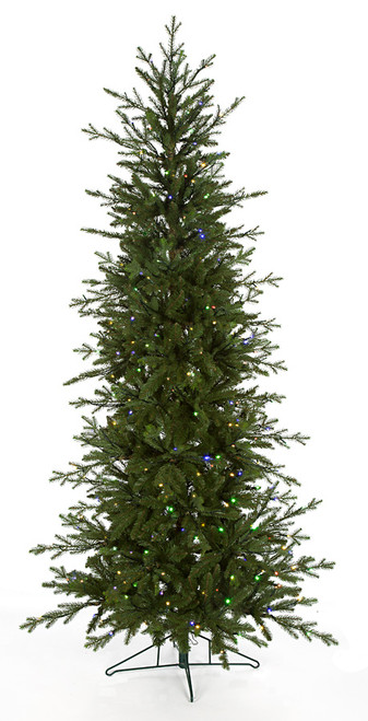7.5 and 9 Foot Edmonton Slim Fir Trees - Multi-Functional LED Lights Control by Remote or Smart Phone