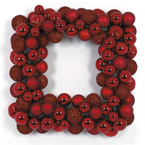 """A-17077524"""" Mixed Red Wreath"""