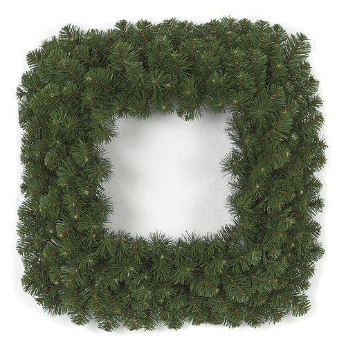 24 Inch Square Pine Wreath