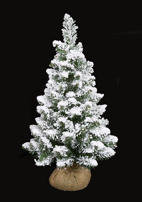24 Inch Flocked Tree