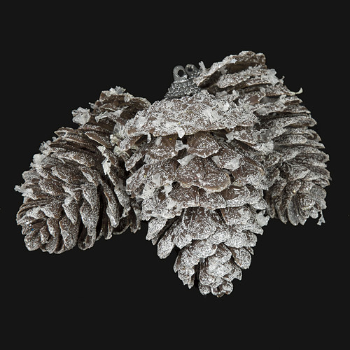 """A-1718904"""" Frosted/Glittered Pine Cones"""
