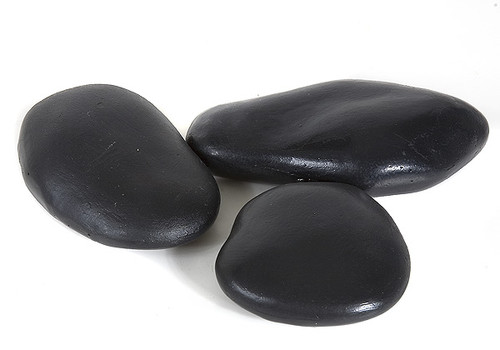 Medium Resin Black River Rocks (3 Rocks Per Set)