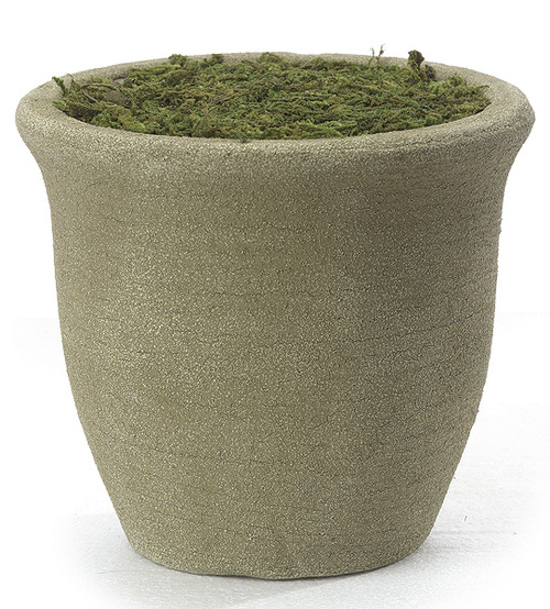 """D-604656"""" Round Foam Pot with Moss"""