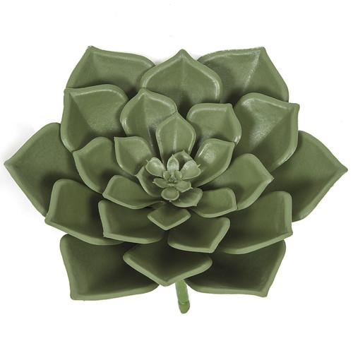 7 Inch Polyblend UV Green Echeveria Plant