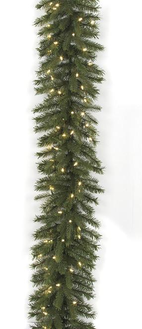 C-1209549' Elizabeth Pine Garlandwith Warm White LED Lights