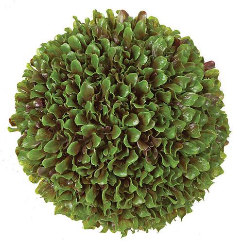13 Inch Orange Leaf Decorative Ball