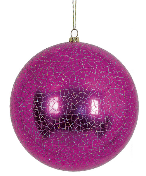 """J-1703505.5"""" Shiny Ball with Crackle FinishFuchsia with Silver"""