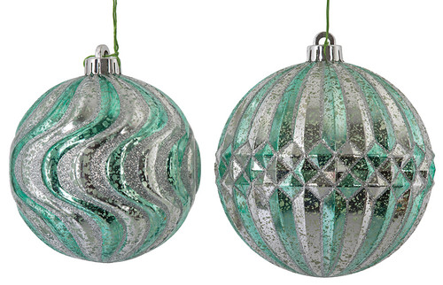 Silver glass ball ornaments silver mercury glass ornaments wholesale