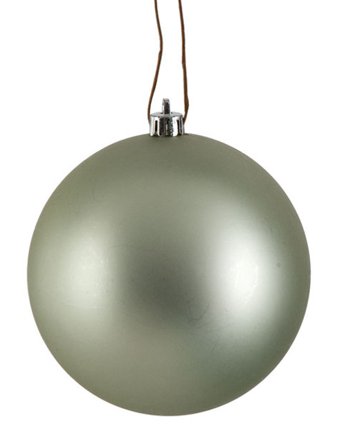 Pretty Silver Matte Ball Ornaments -  Sizes 4 Inch,  6 Inch, and 8 Inches
